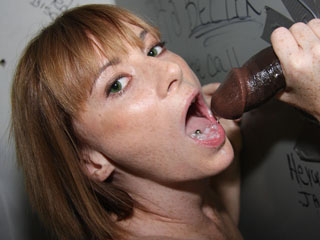 Allison Wyte Black Cock Gagging