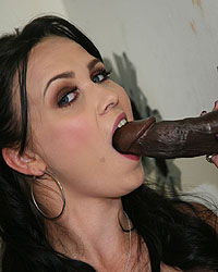 Ally Style - Sexy brunette fucked by a black dude in public