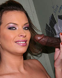 Bailey Brooks - Brunette in interracial fuck and suck off in gloryhole