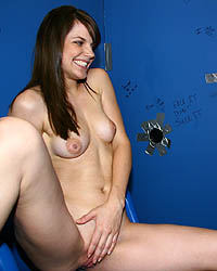 Bobbi Starr 2 - Brunette in interracial fuck and suck off in gloryhole
