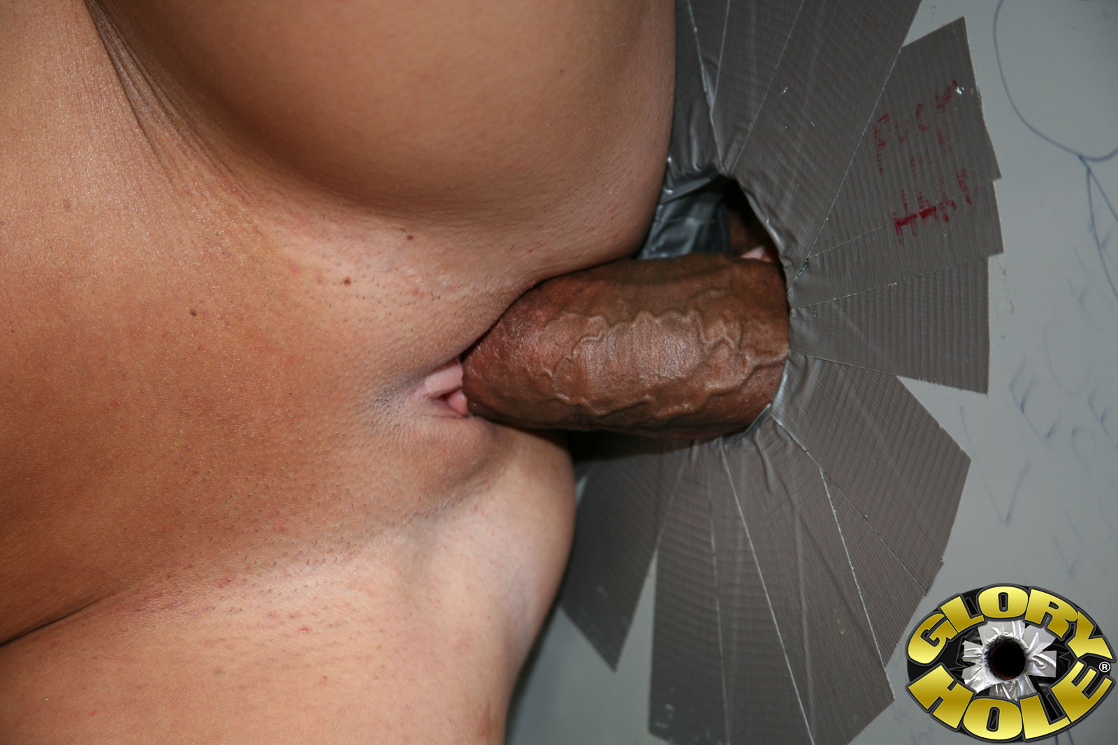 Free devil cock in a dark hole porn photo